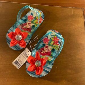 Disney Ariel Flip Flops. NWT